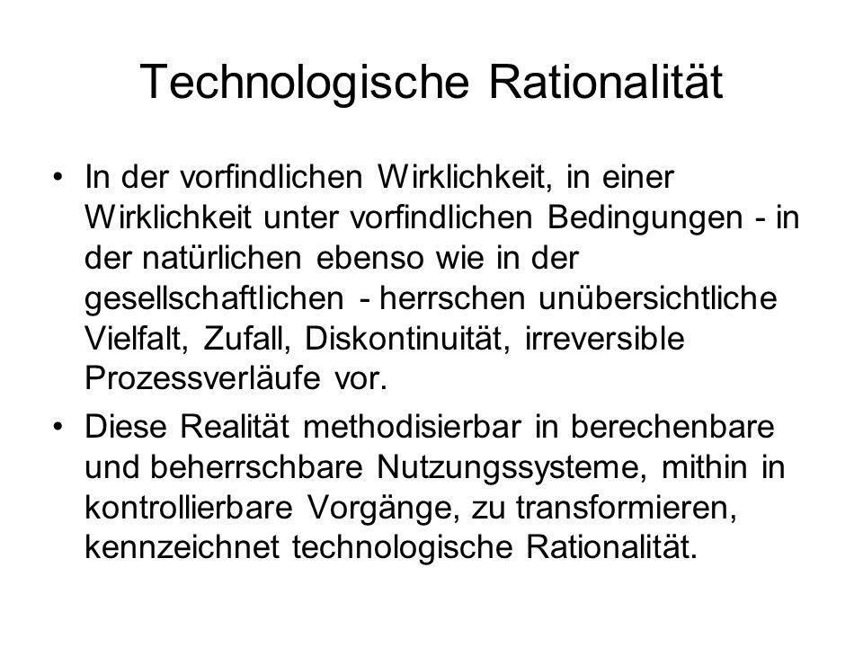Technologische Rationalität