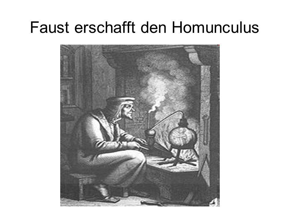 Faust erschafft den Homunculus
