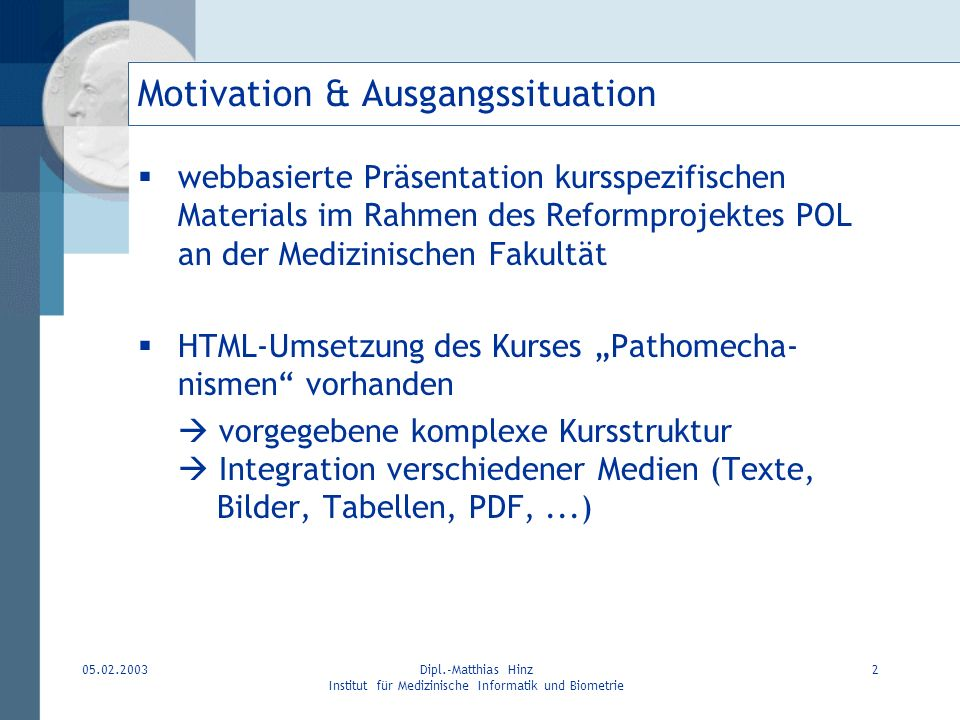 Motivation & Ausgangssituation