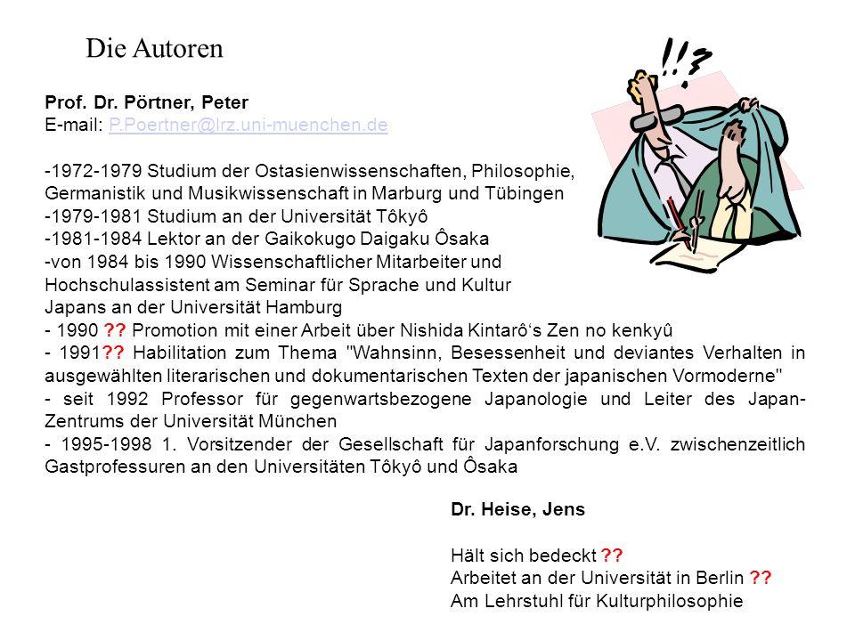 Die Autoren Prof. Dr. Pörtner, Peter