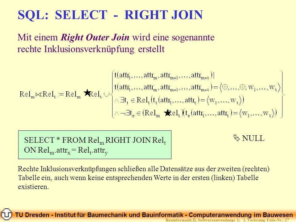 SQL: SELECT - RIGHT JOIN
