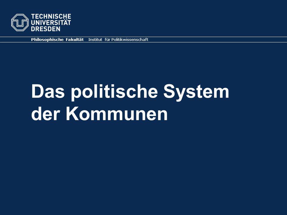 Das politische System der Kommunen