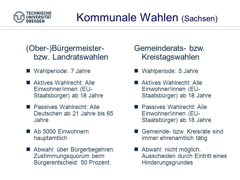 Kommunale Wahlen (Sachsen)