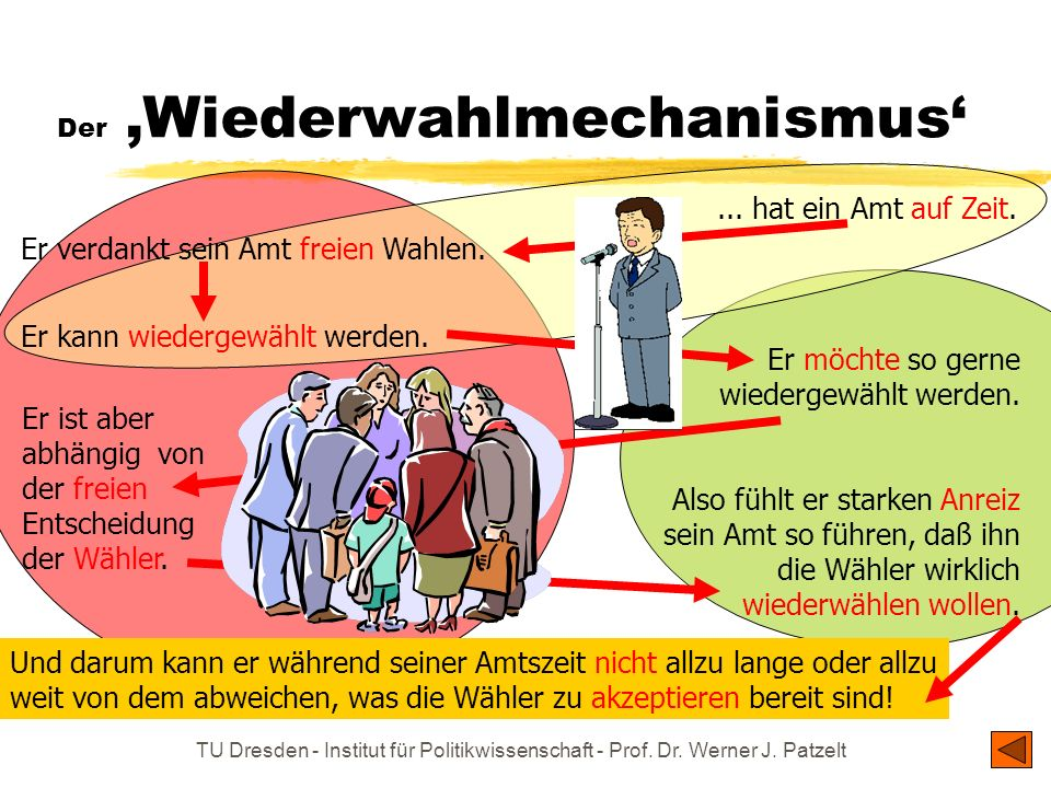 Der 'Wiederwahlmechanismus'
