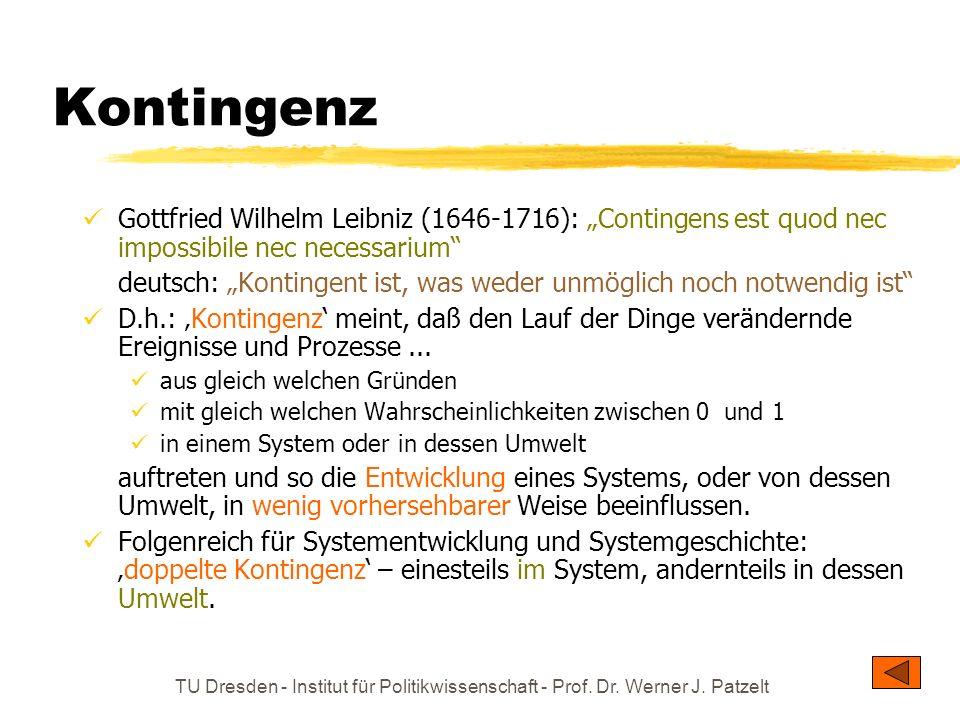 """KontingenzGottfried Wilhelm Leibniz (1646-1716): """"Contingens est quod nec impossibile nec necessarium"""