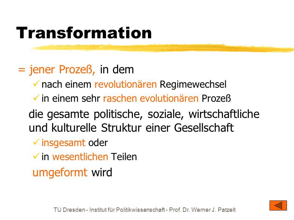 Transformation = jener Prozeß, in dem