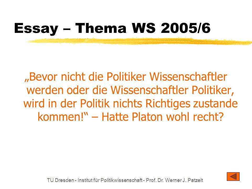 Essay – Thema WS 2005/6