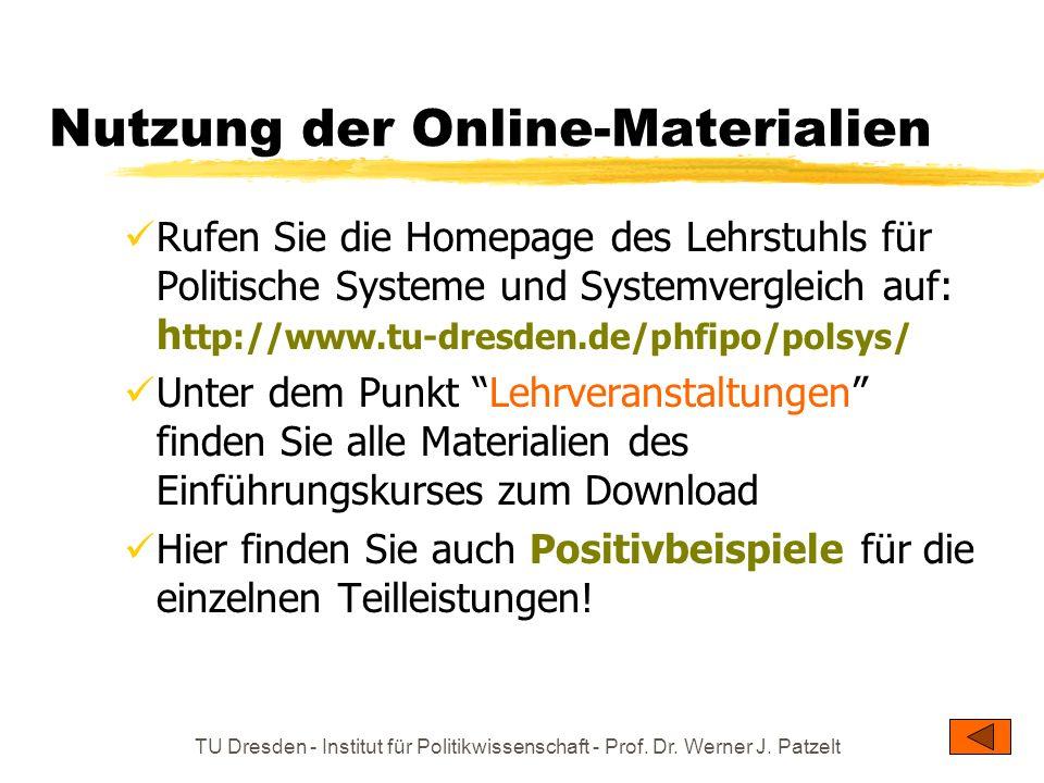 Nutzung der Online-Materialien