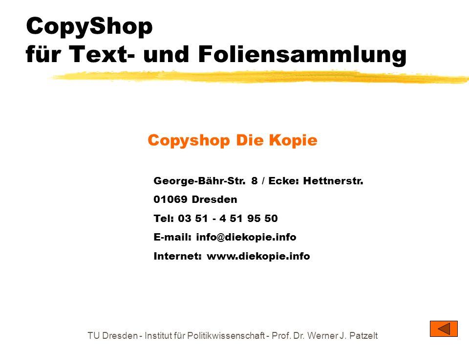 CopyShop für Text- und Foliensammlung