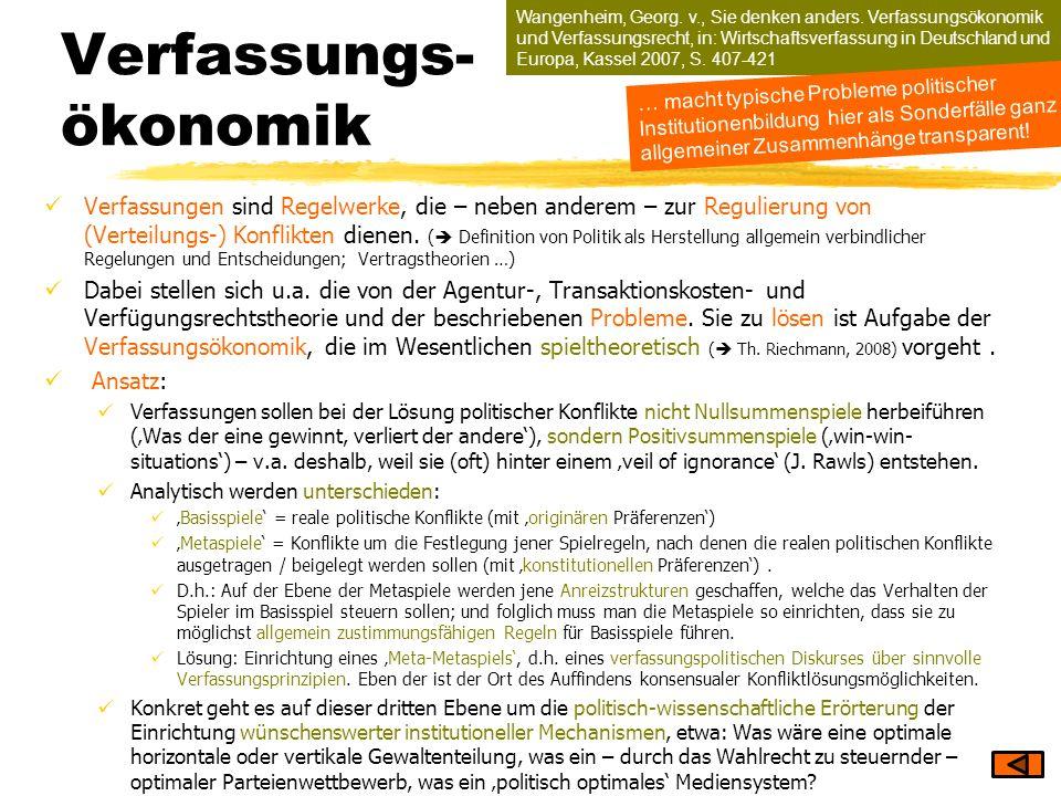 Verfassungs- ökonomik