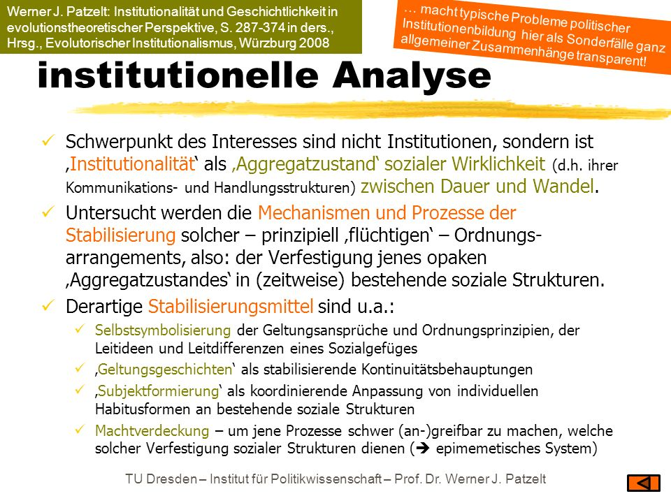 institutionelle Analyse