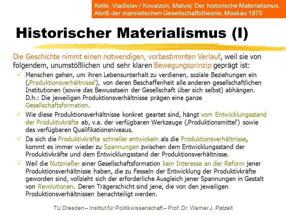 Historischer Materialismus (I)