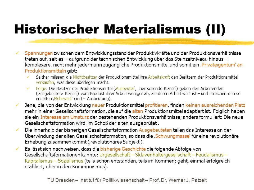 Historischer Materialismus (II)