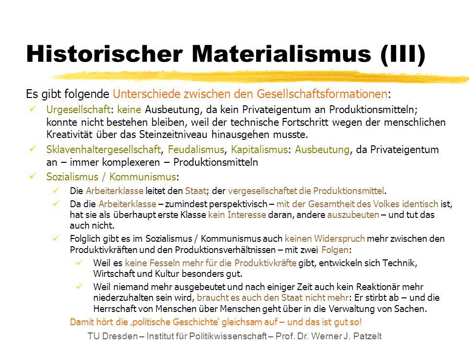 Historischer Materialismus (III)