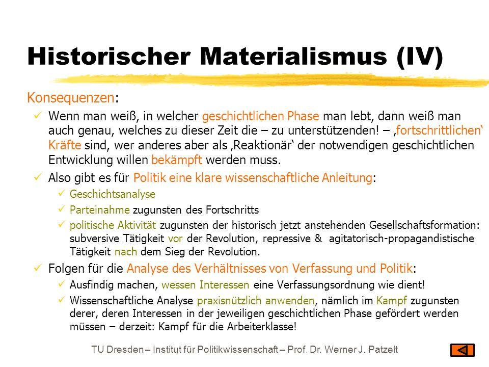 Historischer Materialismus (IV)