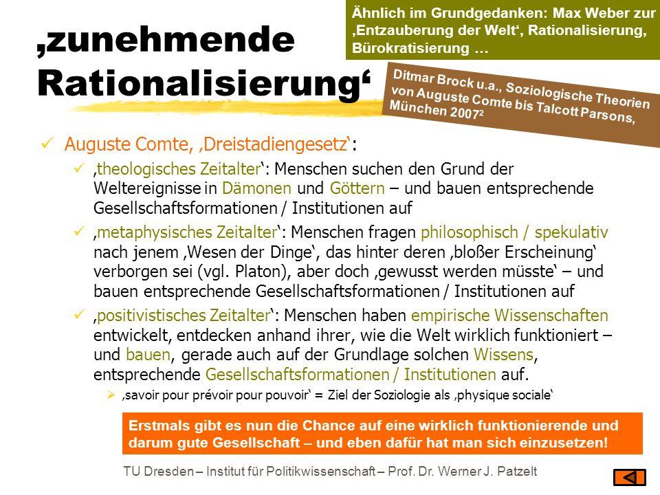 'zunehmende Rationalisierung'