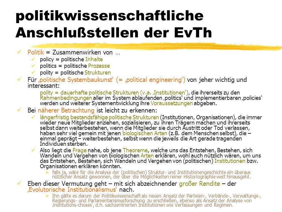 politikwissenschaftliche Anschlußstellen der EvTh