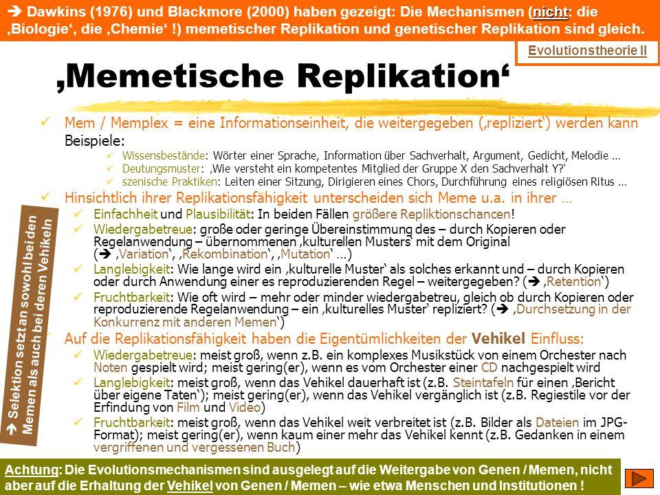 'Memetische Replikation'