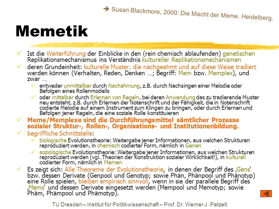 Memetik  Susan Blackmore, 2000: Die Macht der Meme. Heidelberg.