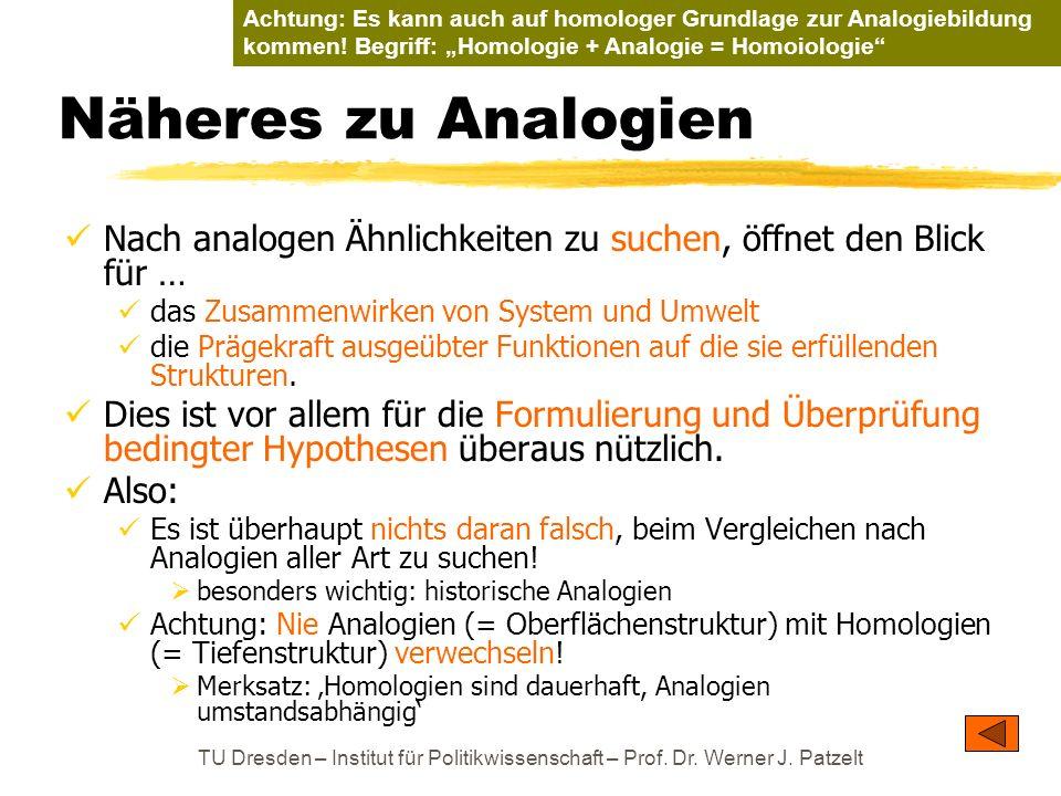 """Achtung: Es kann auch auf homologer Grundlage zur Analogiebildung kommen! Begriff: """"Homologie + Analogie = Homoiologie"""