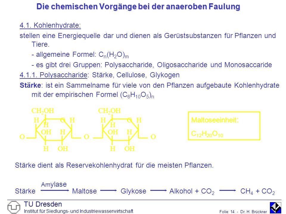 Die chemischen Vorgänge bei der anaeroben Faulung