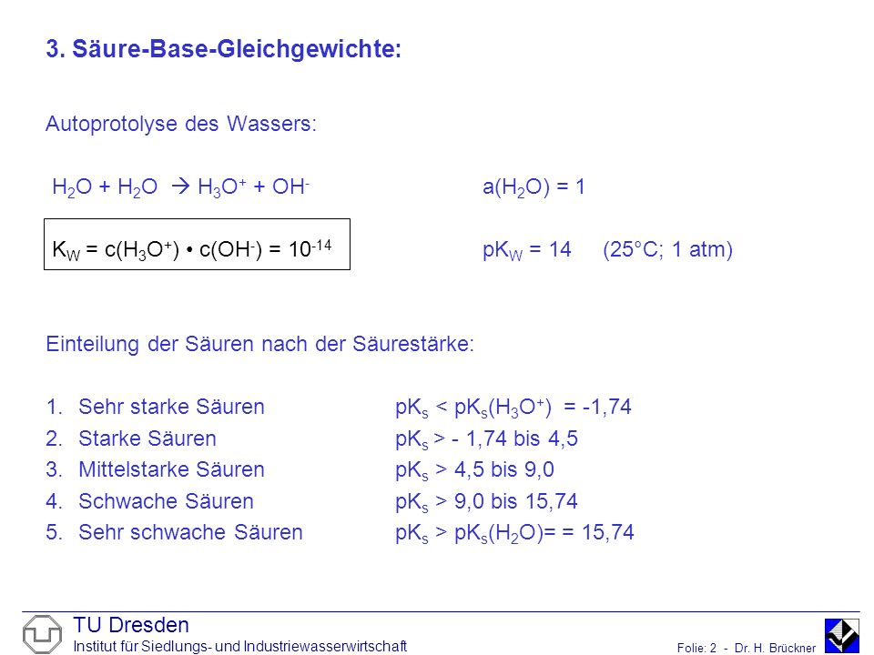 3. Säure-Base-Gleichgewichte: