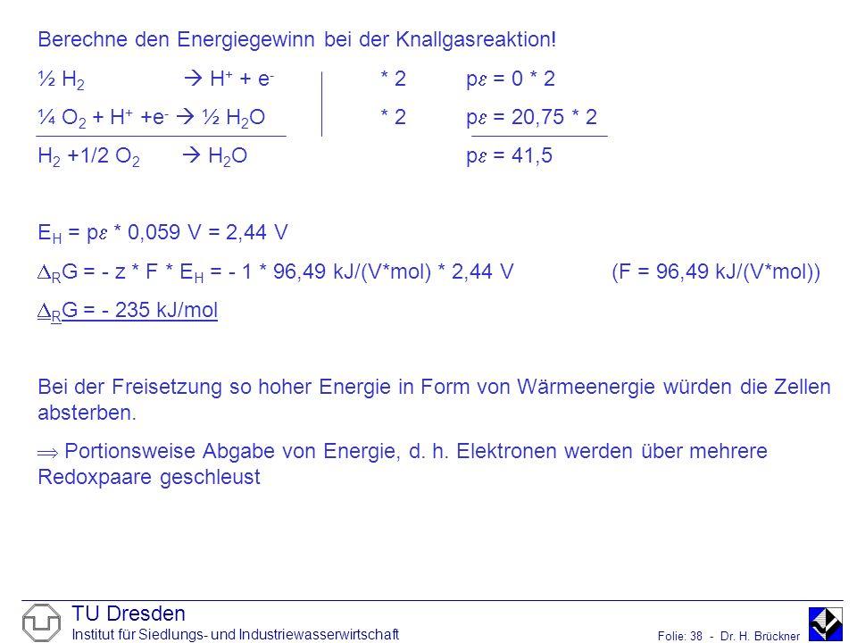 Berechne den Energiegewinn bei der Knallgasreaktion!