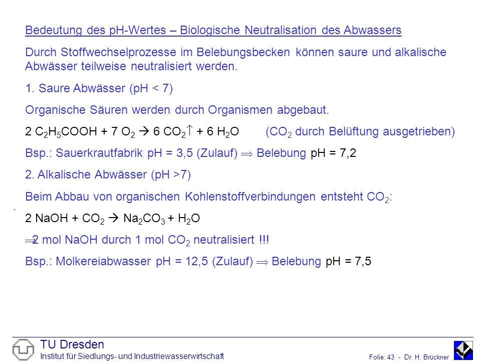 Bedeutung des pH-Wertes – Biologische Neutralisation des Abwassers