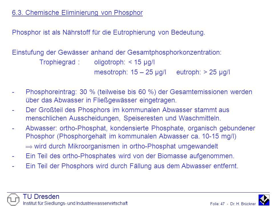6.3. Chemische Eliminierung von Phosphor