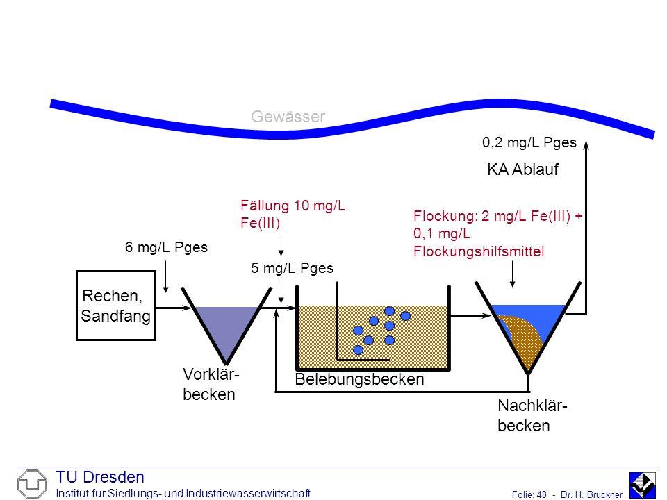 Gewässer KA Ablauf Rechen, Sandfang Vorklär-becken Belebungsbecken
