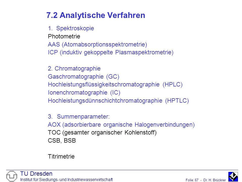 7.2 Analytische Verfahren