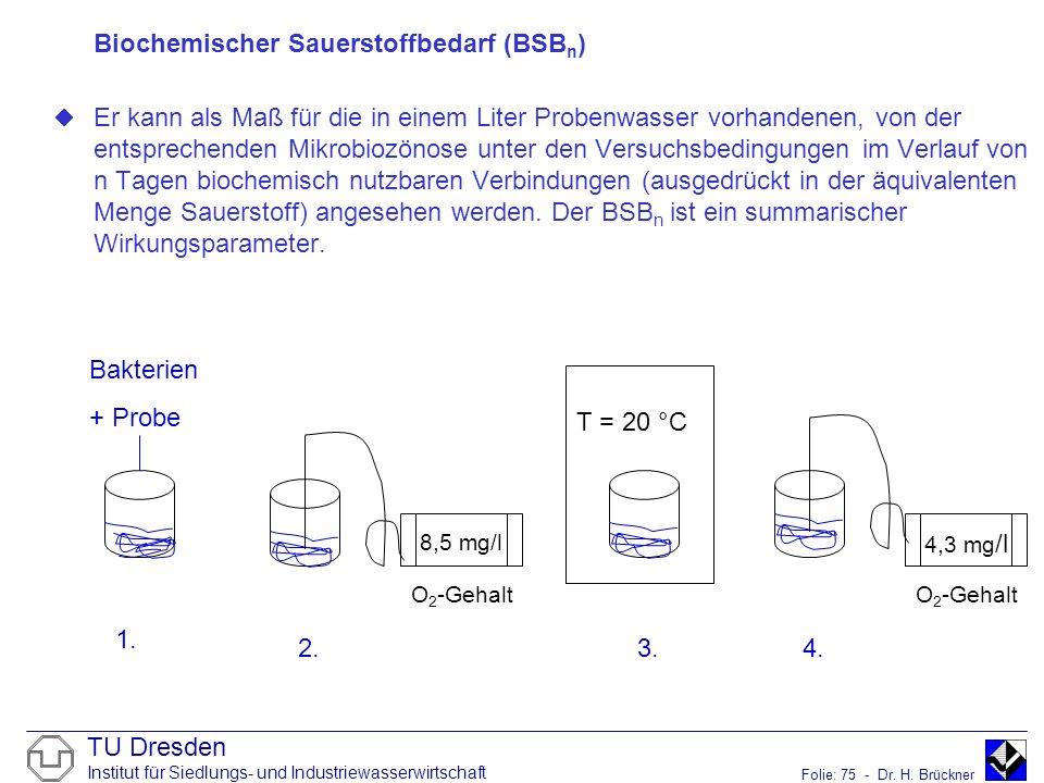 Biochemischer Sauerstoffbedarf (BSBn)