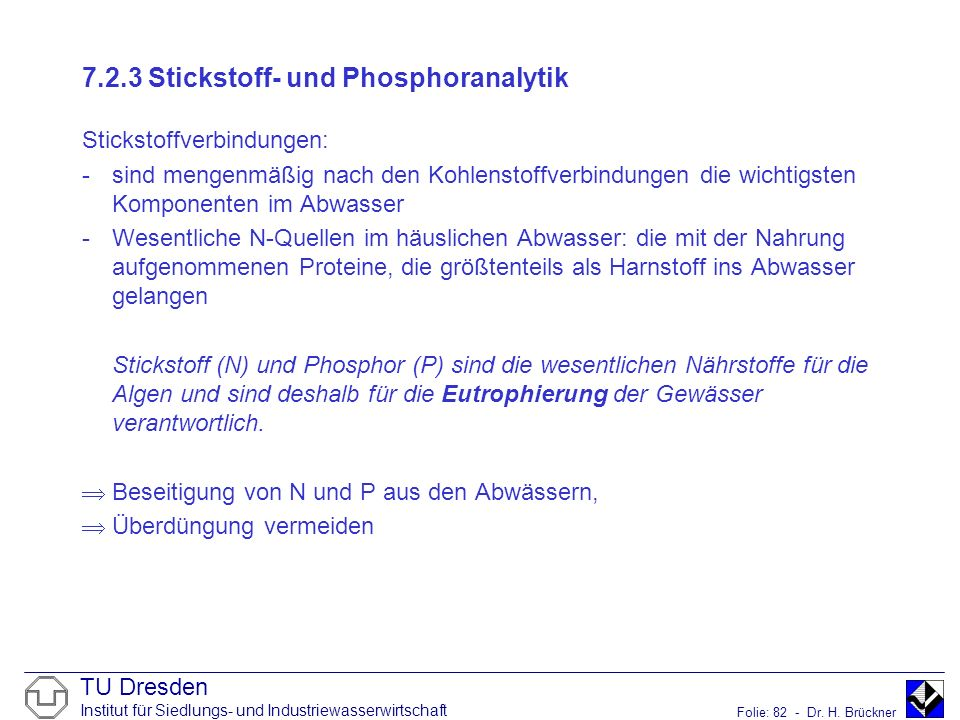 7.2.3 Stickstoff- und Phosphoranalytik