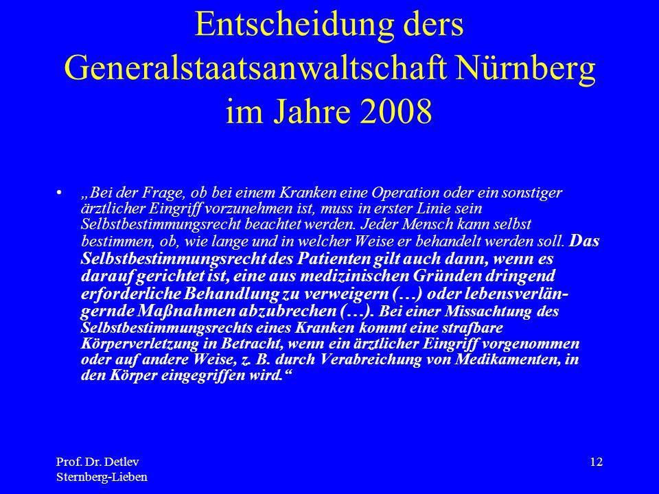 Entscheidung ders Generalstaatsanwaltschaft Nürnberg im Jahre 2008