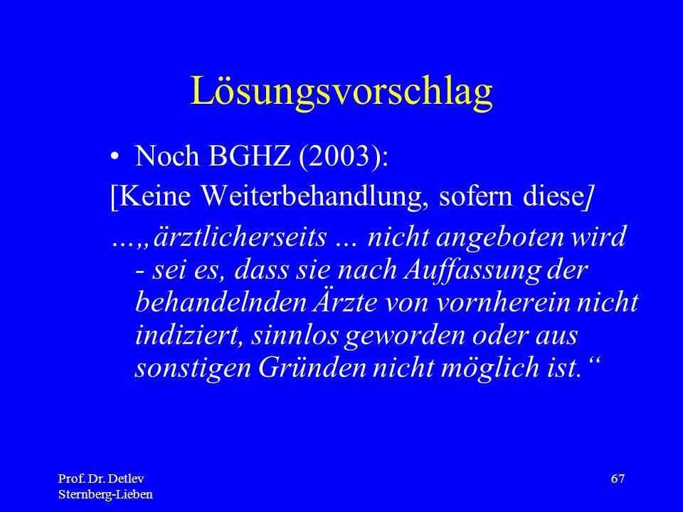 Lösungsvorschlag Noch BGHZ (2003):