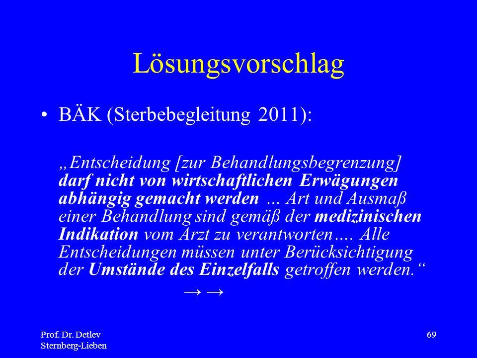 Lösungsvorschlag BÄK (Sterbebegleitung 2011):