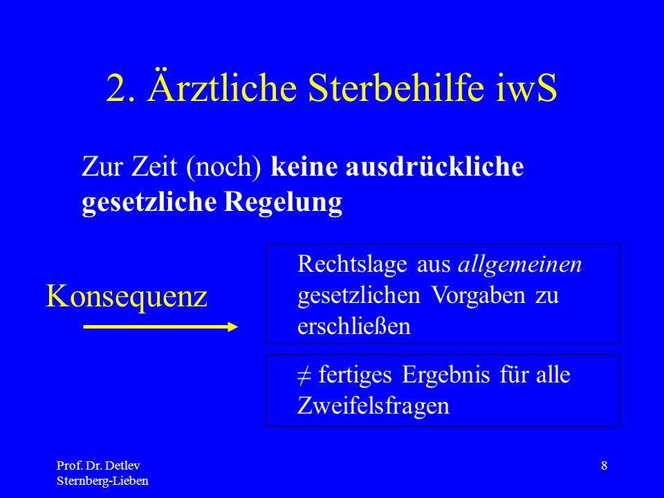 2. Ärztliche Sterbehilfe iwS