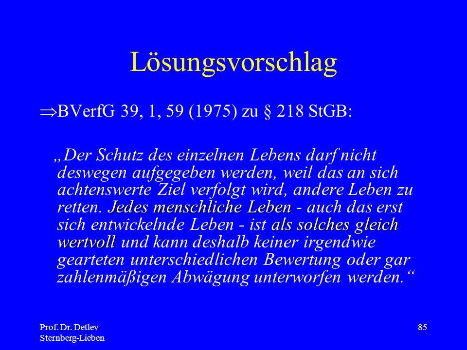 Lösungsvorschlag BVerfG 39, 1, 59 (1975) zu § 218 StGB: