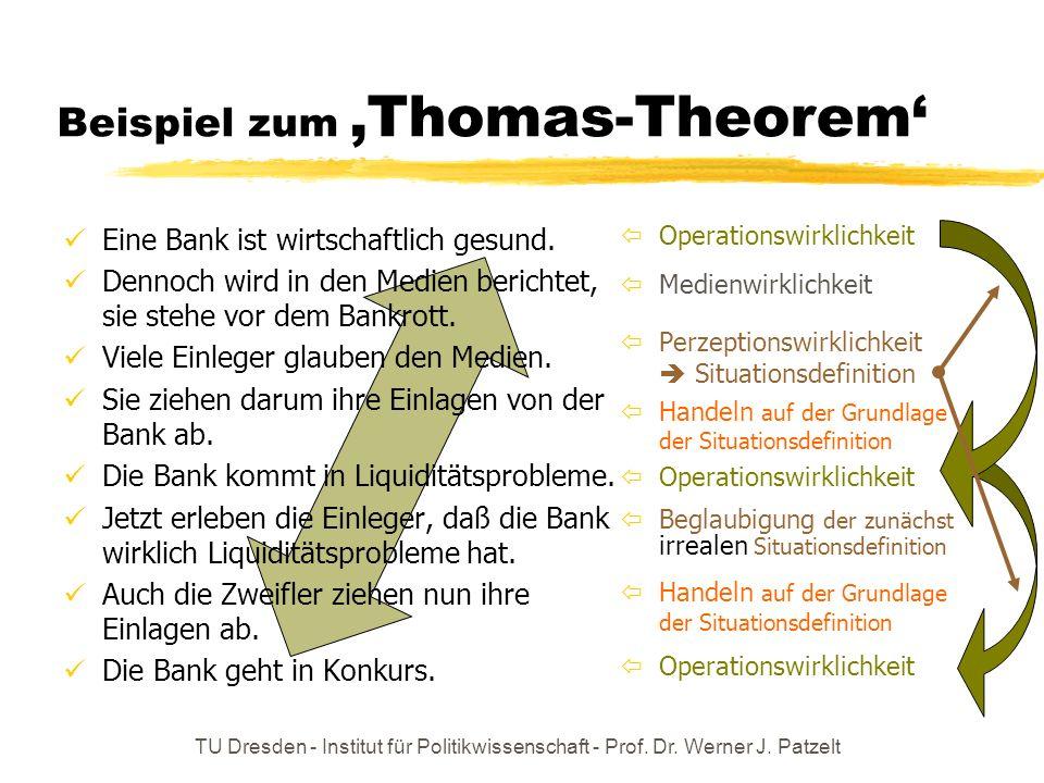 Beispiel zum 'Thomas-Theorem'