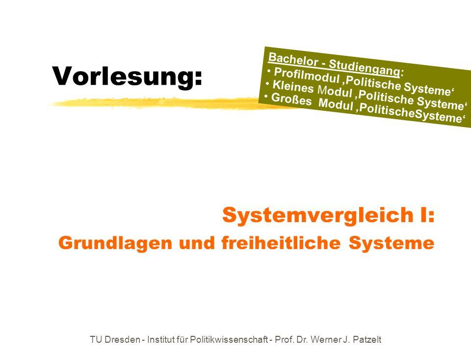 Systemvergleich I: Grundlagen und freiheitliche Systeme