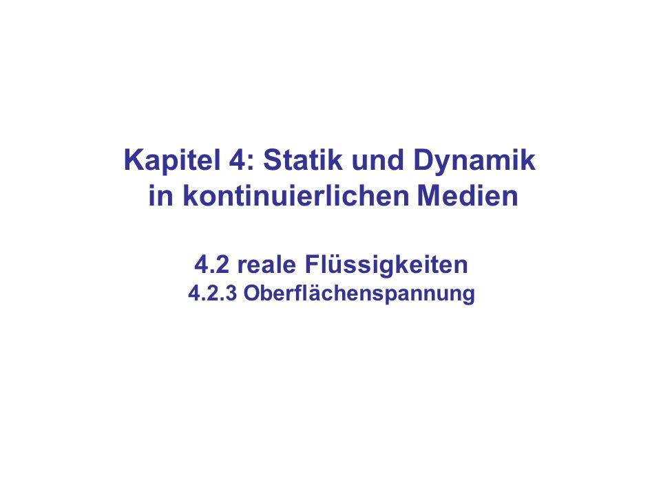 Kapitel 4: Statik und Dynamik in kontinuierlichen Medien