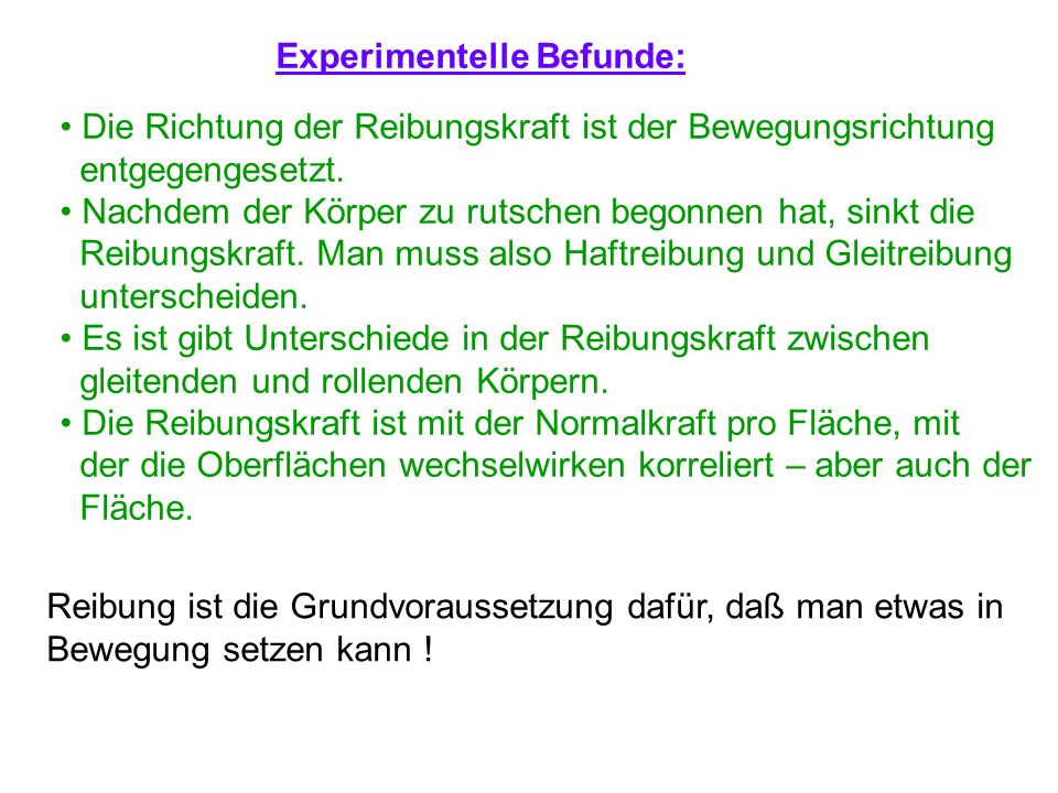 Experimentelle Befunde:
