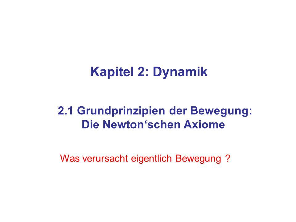 2.1 Grundprinzipien der Bewegung: Die Newton'schen Axiome