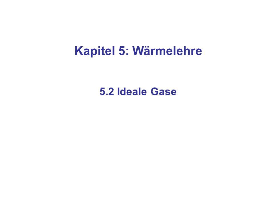 Kapitel 5: Wärmelehre 5.2 Ideale Gase