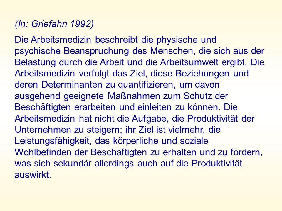 (In: Griefahn 1992)