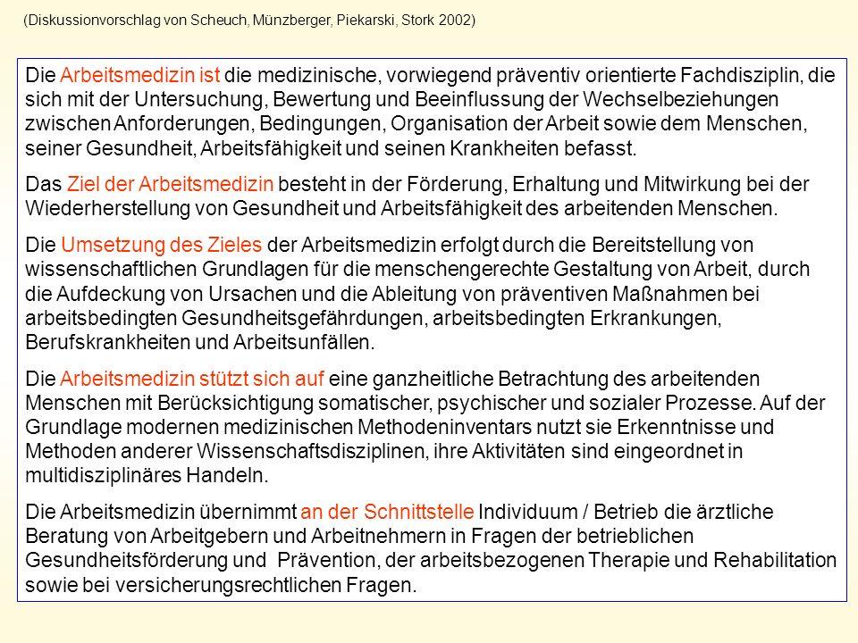 (Diskussionvorschlag von Scheuch, Münzberger, Piekarski, Stork 2002)