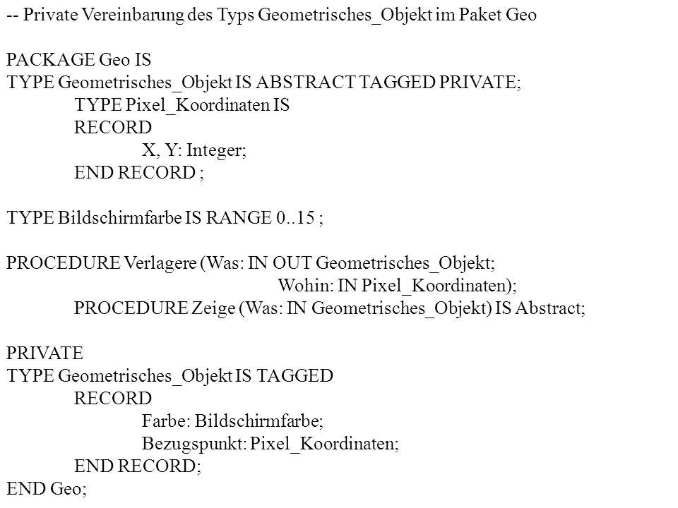-- Private Vereinbarung des Typs Geometrisches_Objekt im Paket Geo