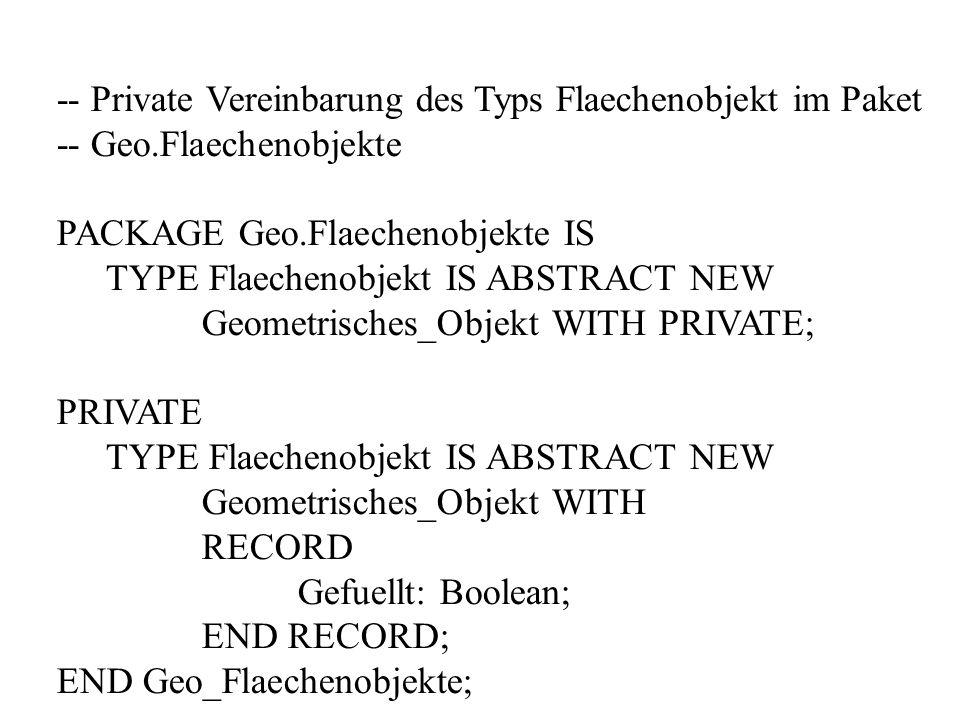 -- Private Vereinbarung des Typs Flaechenobjekt im Paket