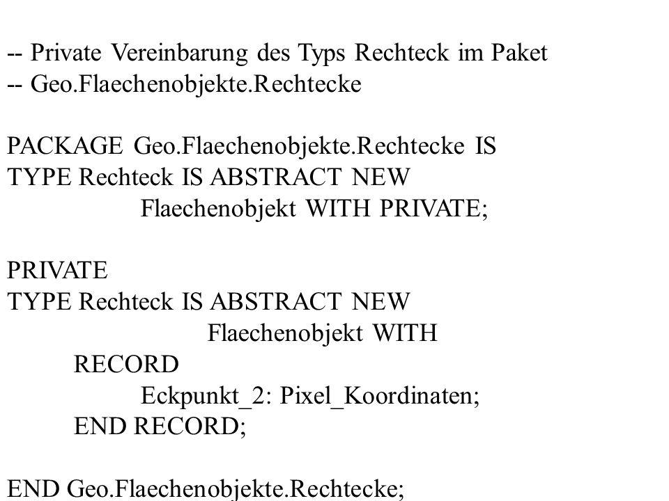 -- Private Vereinbarung des Typs Rechteck im Paket