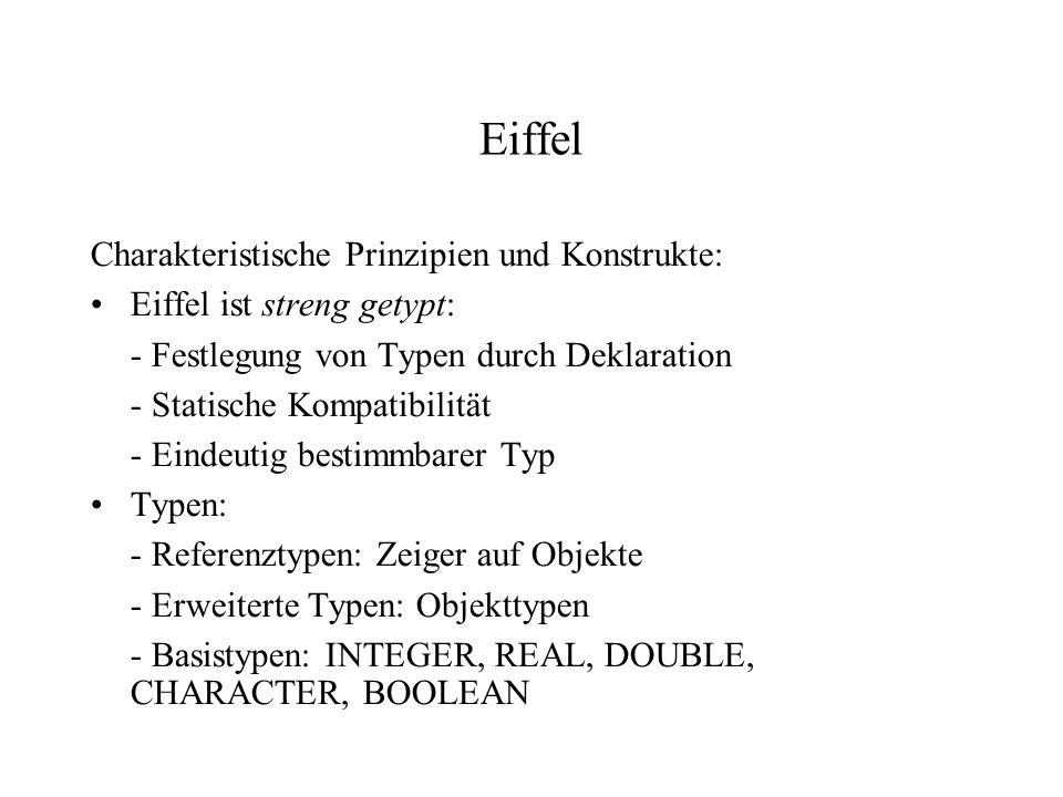 Eiffel Charakteristische Prinzipien und Konstrukte: